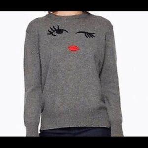 Kate Spade Broome Street Winking Eye Sweater.